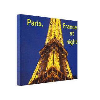 Paris Frankreich nachts Leinwanddrucke