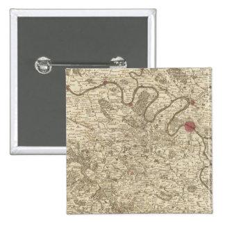 Paris Frankreich Quadratischer Button 5,1 Cm