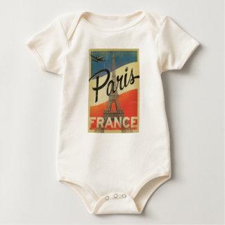 Paris Frankreich Vintage Baby Strampler