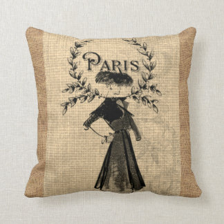 Paris-Frauen-Mode-Vintages Kissen