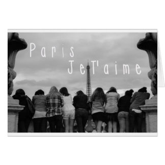 Paris, i-Liebe Sie Karte