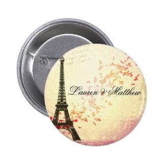 Paris in der Liebe - Eiffel-Turm Anstecknadel