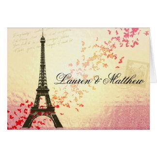 Paris in der Liebe - Eiffel-Turm Karte