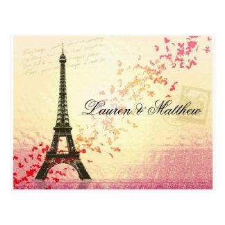 Paris in der Liebe - Eiffel-Turm Postkarte