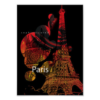 Paris inspirierte Wand-Kunst-Plakat Poster