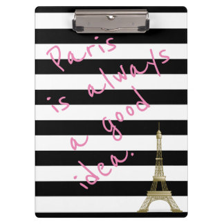 Paris ist immer ein gute Idee Striped Klemmbrett