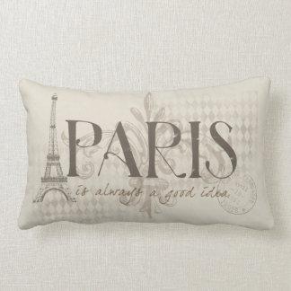 Paris ist immer ein gutes Ideen-Kissen Lendenkissen