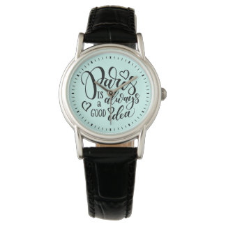 Paris ist immer ein gutes Ideen-Skript Uhr