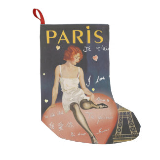 Paris je t aime, altes Plakat Kleiner Weihnachtsstrumpf