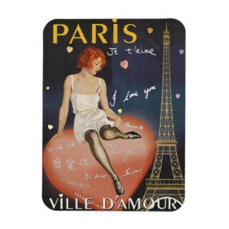 Paris je t aime, altes Plakat Magnet