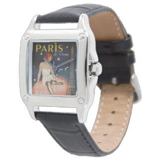 Paris je t aime, altes Plakat Uhr