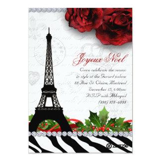Paris-Karten-EiffelturmZebra des Weihnachten252 Karte