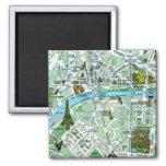 Paris-Karten-Magnet Magnete