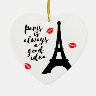 Paris Keramik Ornament