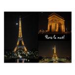 Paris-La nuit! Postkarte