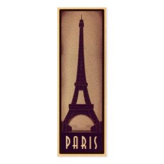 Paris-Lesezeichen-Karte mit Eiffel-Turm-Silhouette Jumbo-Visitenkarten