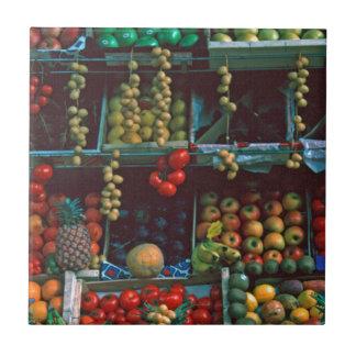 Paris-Markt-Frucht-Anzeige TomWurl Keramikfliese