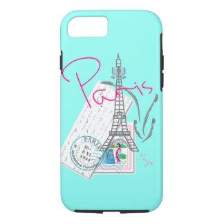 """""""Paris mit Liebe"""" Eiffel+Turm und Buchstabe iPhone 8/7 Hülle"""