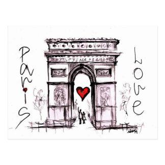 Paris mit Liebe Postkarten