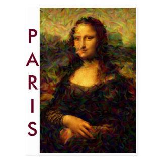 Paris Mona Lisa Postkarte