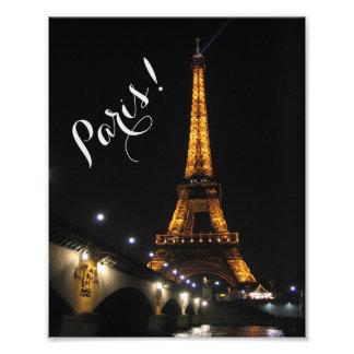 Paris nachts fotodruck