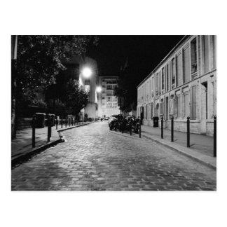 Paris nachts postkarte