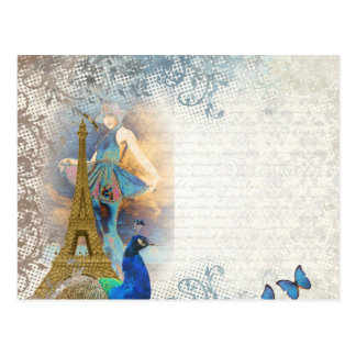 Paris-Pfaucollage Postkarte