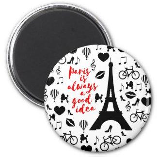 Paris Runder Magnet 5,7 Cm