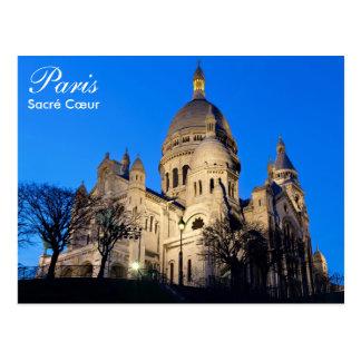Paris - Sacré Cœur an der Nachtpostkarte Postkarten