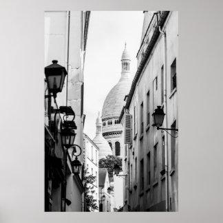 Paris Sacre-Coeur in Schwarzweiss Poster
