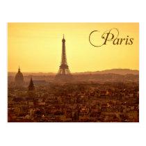 Paris-Sonnenuntergang mit Eiffelturm Postkarte