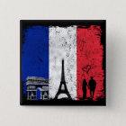 Paris-Stadt der Liebe Quadratischer Button 5,1 Cm