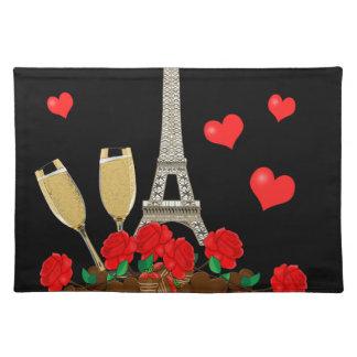 Paris - Stadt der Liebe Stofftischset