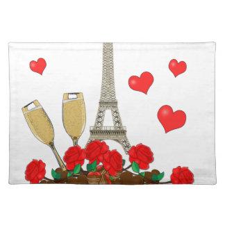 Paris, Stadt der Liebe Stofftischset