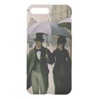 Paris-Straße, regnerischer TagiPhone X/87 plus iPhone 8 Plus/7 Plus Hülle
