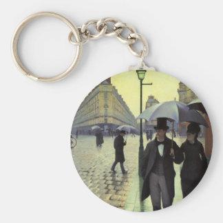 Paris-Straßen-regnerischer Tag durch Gustave Schlüsselanhänger