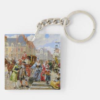 Paris-Straßenmalende Schlüsselkette Schlüsselanhänger