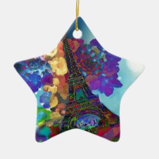 Paris-Träume der Blumen Keramik Ornament