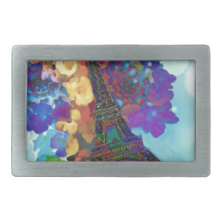 Paris-Träume der Blumen Rechteckige Gürtelschnalle