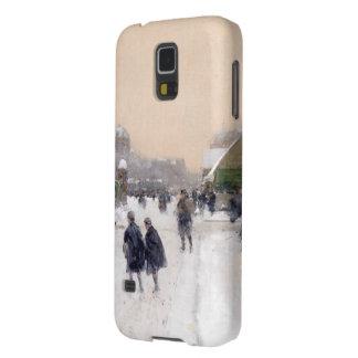 Paris unter Kasten Schnee Samsung-Galaxie-S5 Hülle Fürs Galaxy S5