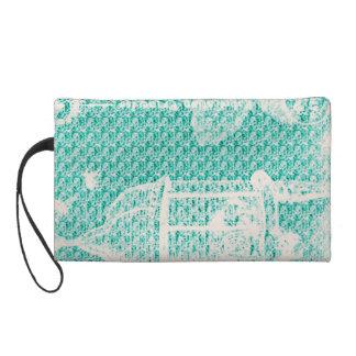 Paris--Vogel Cage-Turquoise-Cosmetic_Travel_Bag Wristlet