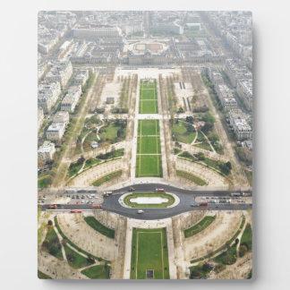 Paris von oben fotoplatte
