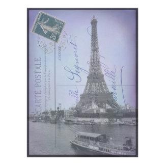 Paris-Weltausstellung-französische Postkarte lädt Einladung