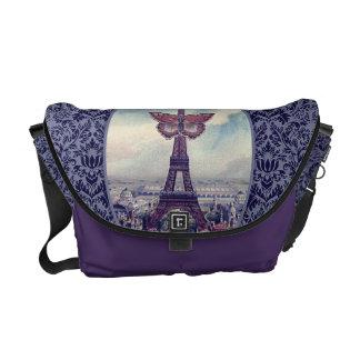 Parischic-Eiffel-Turm-Vintage Collage Kurier Taschen