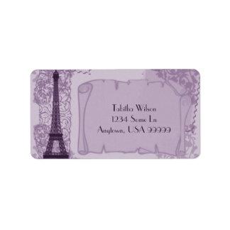 Pariser Amethyst Adressen-Etikett Adressaufkleber