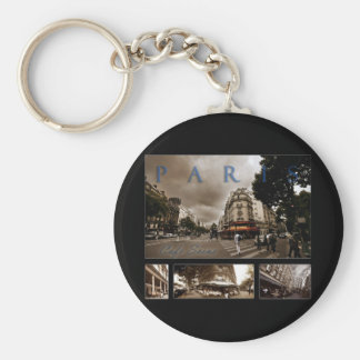 Pariser Café-Szene Schlüsselanhänger