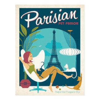 Pariser Haustier-Wohnzimmer Postkarten