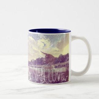 Pariser Liebe verwittertes Bild Zweifarbige Tasse