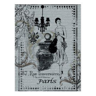 Pariser Mode Postkarte
