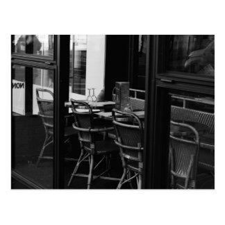 Pariser Schwarzweiss-Restaurant Postkarte